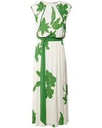Loro Piana Floral ビスコース&シルクジャージードレス - グリーン