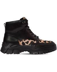 Tod's Походные Ботинки Из Кожи И Ворс.кожи 50мм - Черный