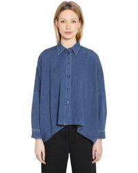 MM6 by Maison Martin Margiela - Boxy Fit Vintage Cotton Denim Shirt - Lyst