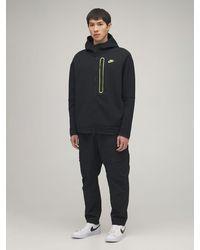Nike Kapuzensweatshirt Aus Baumwollfleece - Schwarz