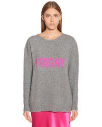 Alberta Ferretti - Friday Oversize Wool & Cashmere Sweater - Lyst