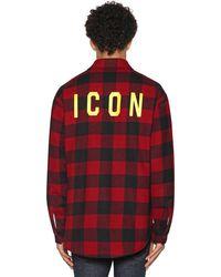 DSquared² Icon ウールフランネルシャツ - レッド
