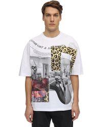 P.a.m. Perks And Mini Boxed Animal Oversize Cotton T-shirt - Multicolour