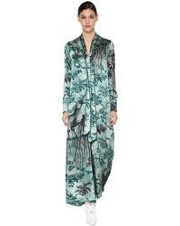 F.R.S For Restless Sleepers Kleid Aus Viskose Mit Druck - Blau