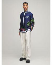 CASABLANCA - Surf Club シルクツイルシャツ - Lyst