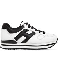 Hogan - 50mm H222 Active Leather Trainers - Lyst