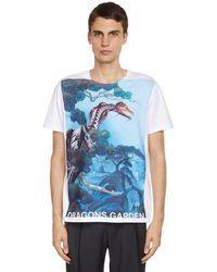 Valentino Dragons Garden プリントコットンtシャツ - ブルー
