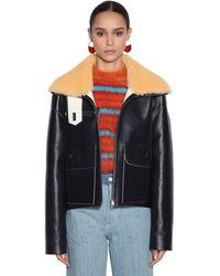 Marni Oversize Leather Jacket - Black