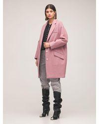 Étoile Isabel Marant Limi Wool Blend Short Coat - Pink