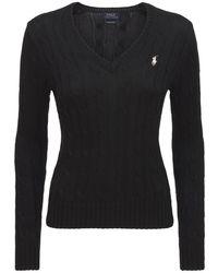 Polo Ralph Lauren Свитер Kimberly Из Хлопка - Черный
