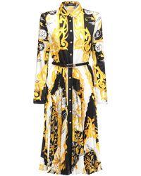 Versace - バロックプリント プリーツシャツドレス - Lyst