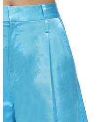 STAUD Weite Shorts Aus Satin - Blau