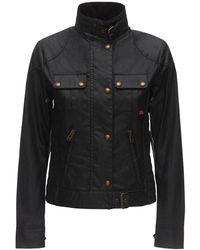 Belstaff Buttoned Waxed Cotton Jacket - Black