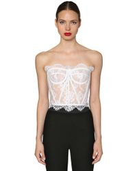 Dolce & Gabbana - Chantilly Lace Bustier Top - Lyst