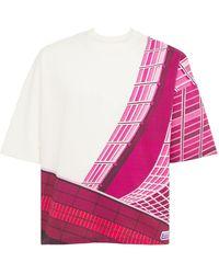 Formy Studio Oversized T-shirt Aus Baumwolle Mit Druck - Pink