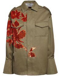 Valentino Куртка Из Габардина С Вышивкой - Многоцветный