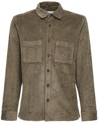 Wax London Hemd Aus Baumwollkord - Grün