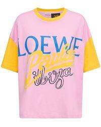 Loewe Paula's Ibiza コットンジャージーtシャツ - ピンク