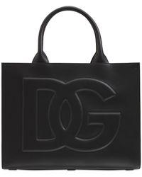 Dolce & Gabbana Dg Daily エンボスレザーバッグ - ブラック