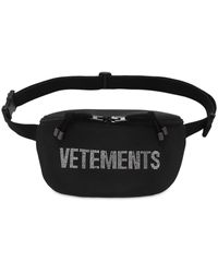 Vetements Crystal Logo Tech Belt Bag - Black