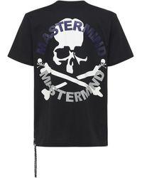 MASTERMIND WORLD Circle コットンtシャツ - ブラック