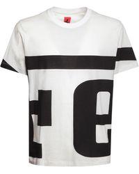 Ferrari Logo Print Cotton T-shirt - White