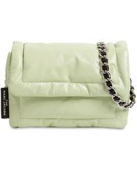 Marc Jacobs Кожаная Сумка The Mini Pillow Paper - Зеленый
