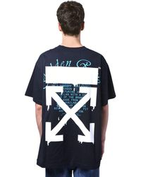 Off-White c/o Virgil Abloh Print Dripping Arrow Over Jersey T-shirt - Black