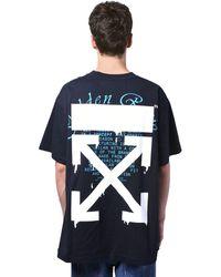 Off-White c/o Virgil Abloh T-shirt Aus Jersey Mit Farbeffekt - Schwarz
