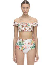 Agua Bendita Cecilia Stretch Bikini Top - White