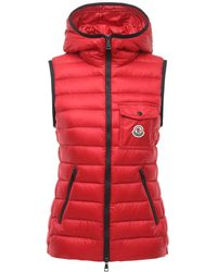 Moncler Glyco ナイロンダウンベスト - レッド