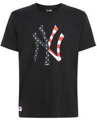 "KTZ T-shirt Mit Logo ""mlb Seasonal Ny Yankees"" - Schwarz"