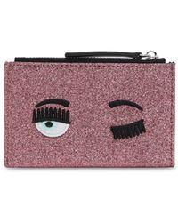Chiara Ferragni Flirting Eye Glittered Card Holder - Multicolor