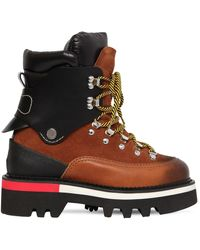 DSquared² 50mm Suede & Nylon Hiking Boots - Brown