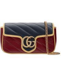 Gucci - Gg Marmont Super Mini レザーバッグ - Lyst