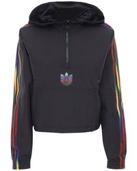 adidas Originals Sweat-shirt Zippé Court En Tech À Capuche - Noir