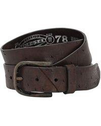 DIESEL 35mm Leather Belt - Brown