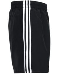 adidas Originals – adicolor – Shorts mit drei Streifen - Schwarz