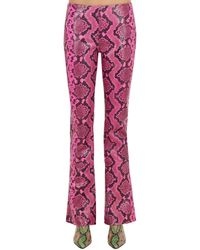 Marques'Almeida Boot Cut Snake Printed Leather Pants - Multicolor