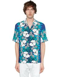 DSquared² Рубашка С Гавайским Принтом - Синий