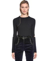 Nina Ricci - Wool Knit Sweater W/ Elbow Cutouts - Lyst