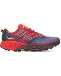 Hoka One One 33mm Speedgoat 4 Running Sneakers - Red