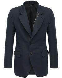 Tom Ford Cotton & Silk Sport Jacket - Blue