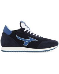 Mizuno L.s. Etamin Fabric & Leather Trainers - Blue