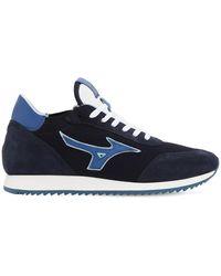Mizuno L.s. Etamin Fabric & Leather Trainers - Blue