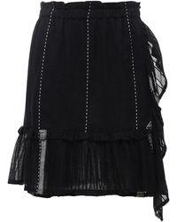 lemlem Tikuri Striped Cotton Mini Skirt - Black