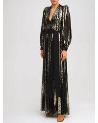 Elie Saab - Длинное Платье Из Тюля С Вышивкой - Lyst