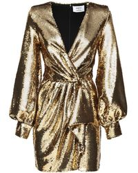 Amen Vestito Con Paillettes - Metallizzato