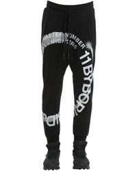 Boris Bidjan Saberi 11 Wheel Printed Cotton Jersey Joggers - Black