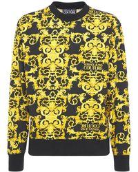 Versace Jeans Couture Свитшот Из Хлопка С Принтом - Желтый